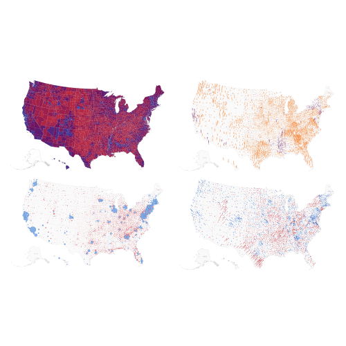 2020 election results in 4 maps